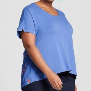 Ava & Viv Mixed Media Short Sleeve T-Shirt